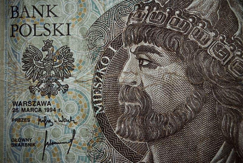 Польские бумажные деньги или банкноты стоковое фото rf
