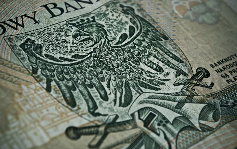 Польские бумажные деньги или банкноты стоковое изображение