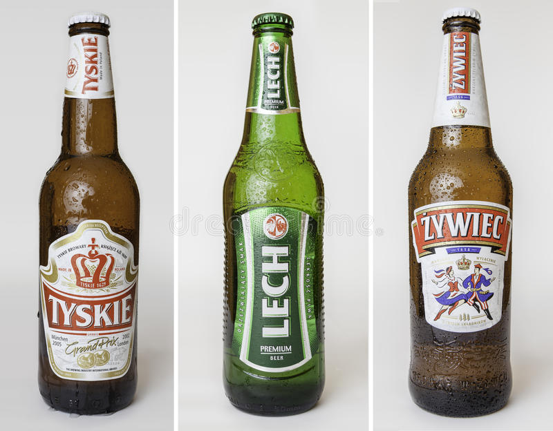 Польские установленные пив стоковое изображение rf