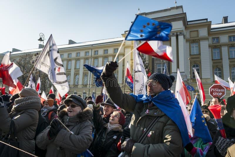 Польский комитет для обороны демонстрации демократии в w стоковые фотографии rf