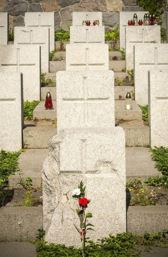 Польское кладбище войны солдат, Вильнюс стоковое фото rf