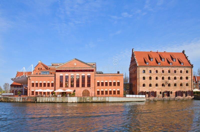 Польское прибалтийское филармоническое, Гданьск стоковые изображения rf