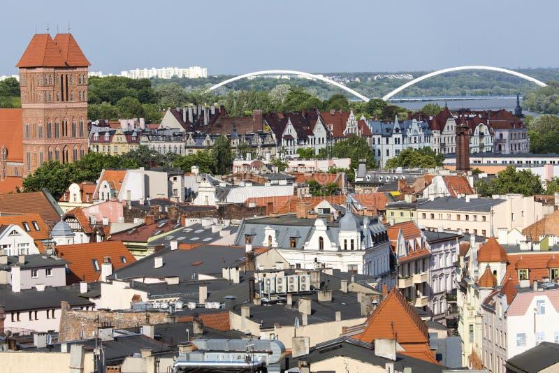 Польша - Торун, город разделенный Рекой Висла между Померанией стоковая фотография