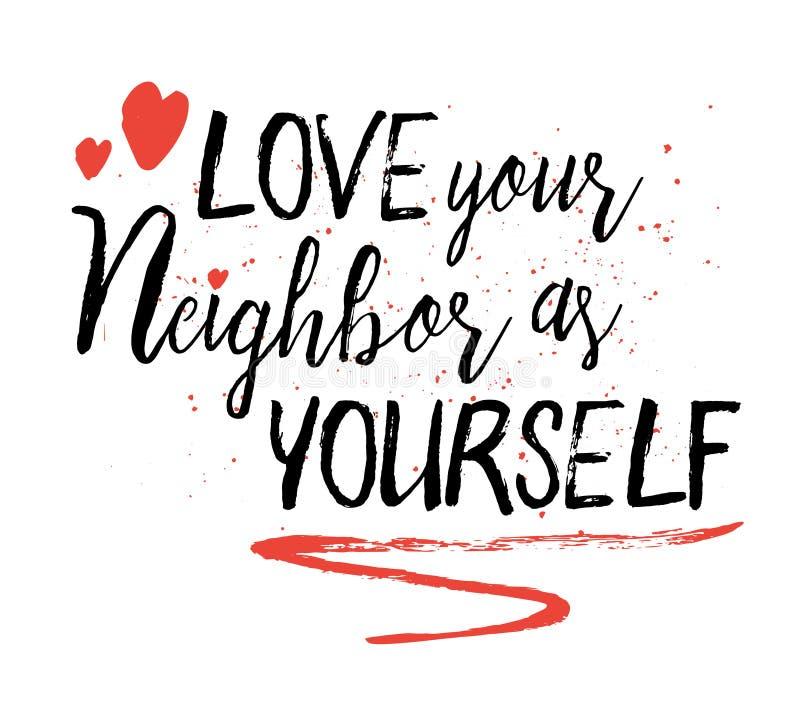 Полюбите вашего соседа как бесплатная иллюстрация