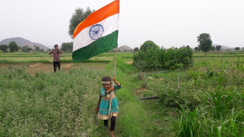 Полюбите мой флаг Индии стоковые изображения rf