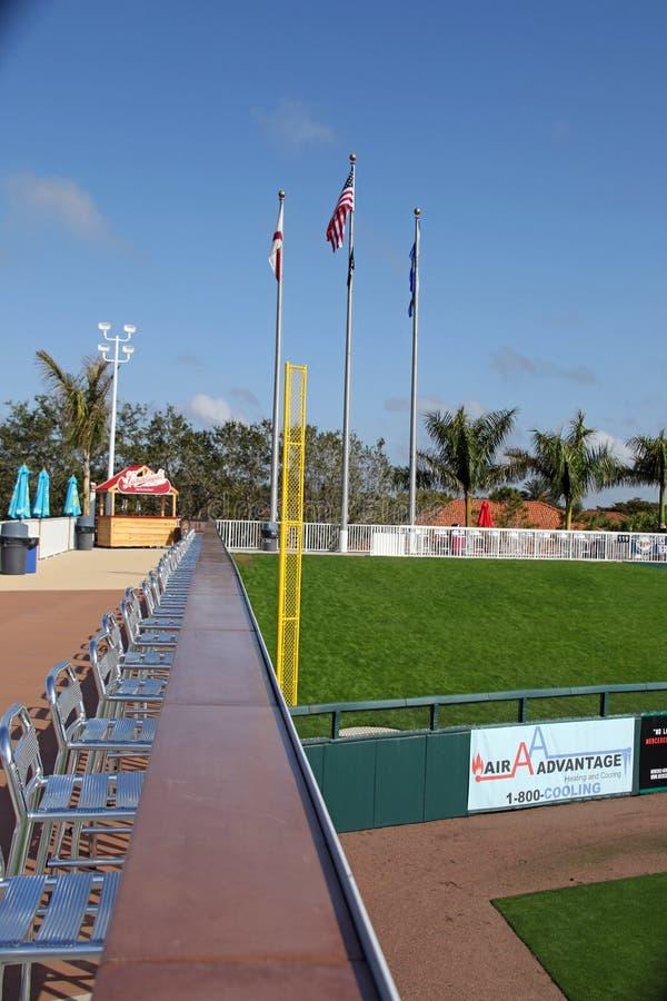 Поляк нарушения правил игры левой части игрового поля на стадионе Hammond стоковое изображение rf