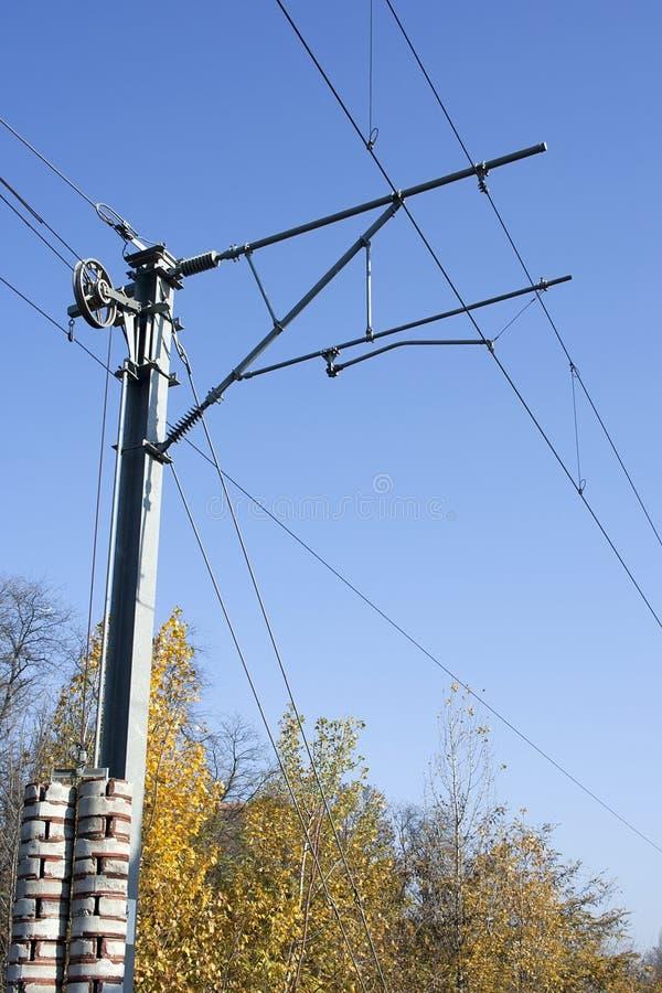 Поляк electrified железной дорогой стоковые изображения rf