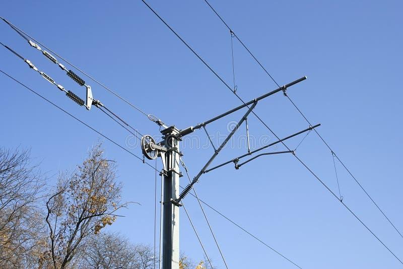 Поляк electrified железной дорогой стоковое изображение