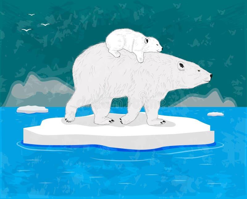 Полярные медведи иллюстрация штока