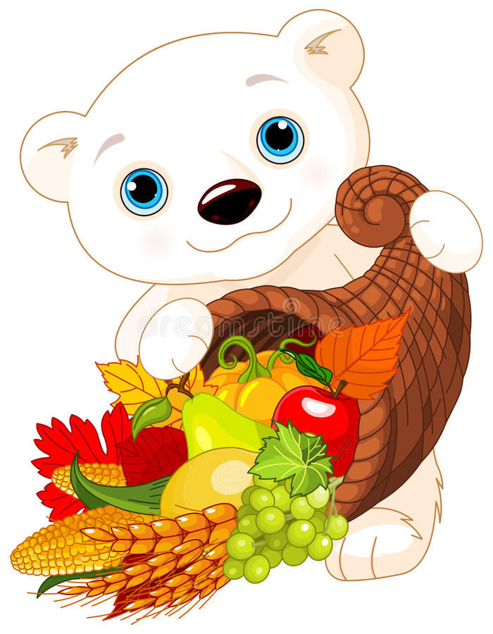 Полярный медведь держит изобилие бесплатная иллюстрация