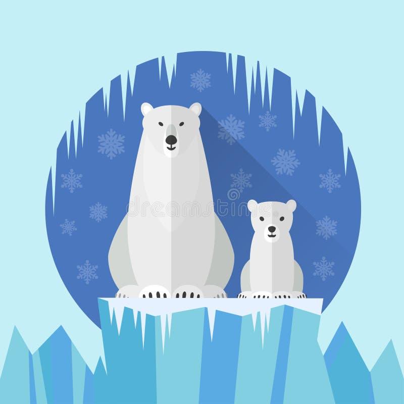 Полярный медведь плоская Антарктика стоковые фотографии rf