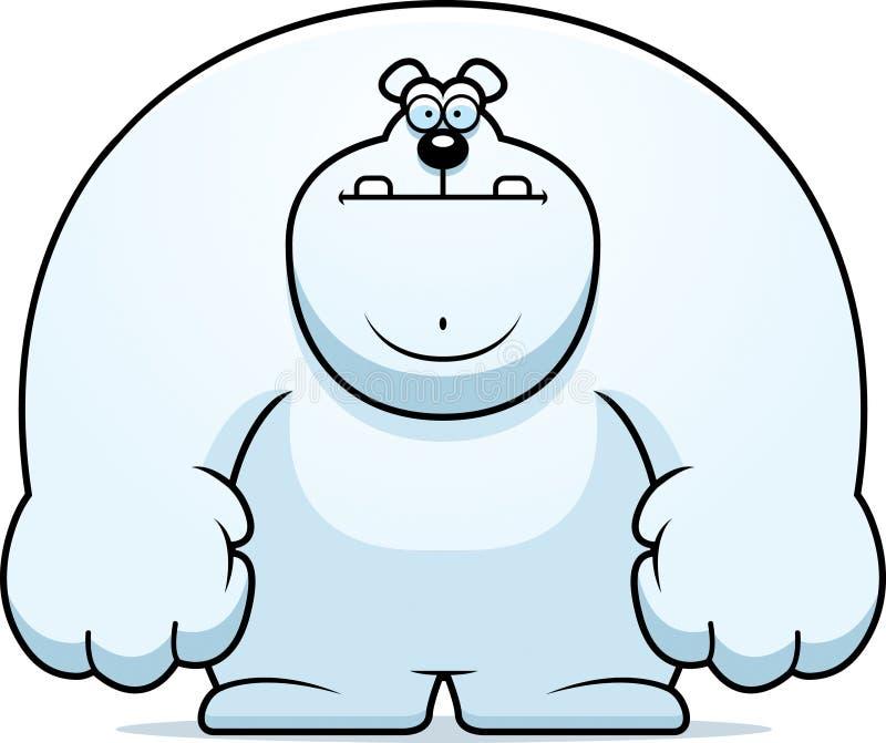 Полярный медведь шаржа иллюстрация штока