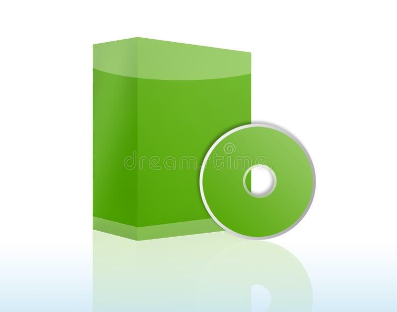 ПО copyspace коробки cd иллюстрация вектора