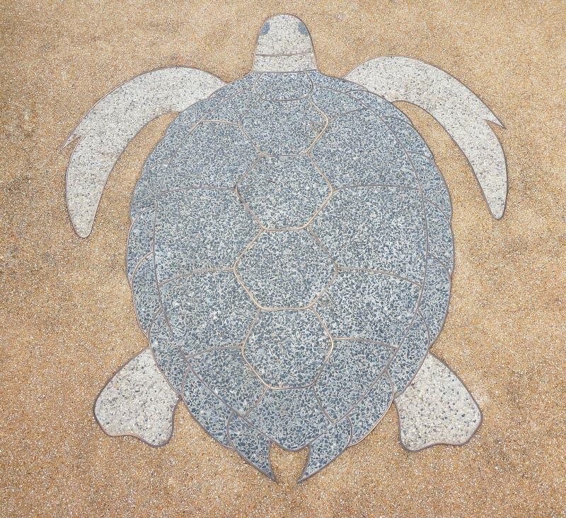 Пол Terrazzo, сделанная по образцу щелкая черепаха стоковые фотографии rf
