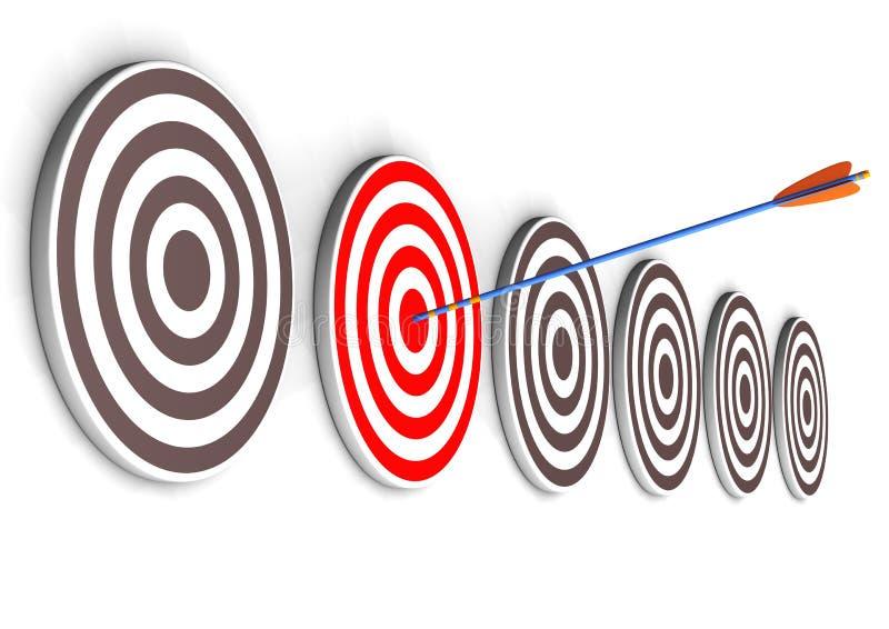 Правая цель иллюстрация вектора