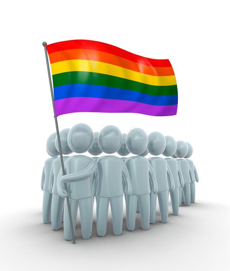 Права гомосексуалистов иллюстрация штока