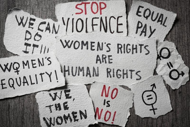 Права женщин и концепции равенства полов стоковые изображения rf