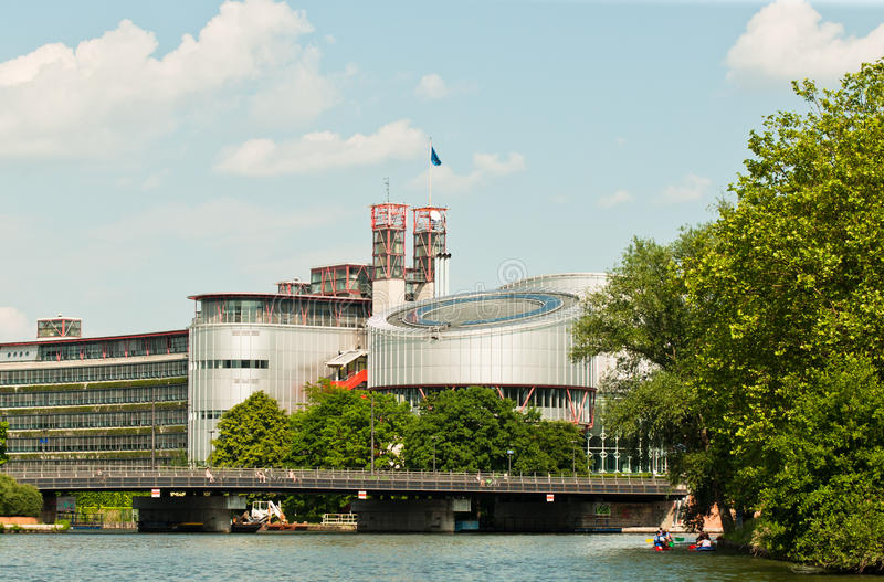 права человека европейца суда стоковое изображение rf