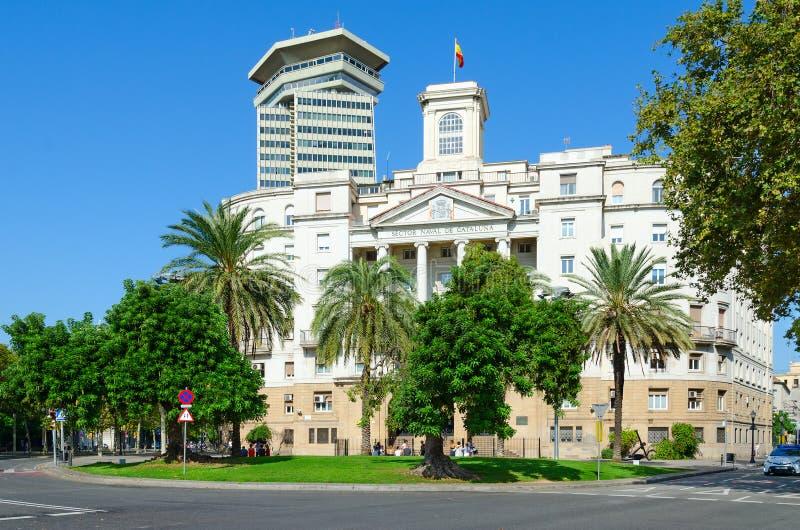 Правительство строя воинский офис ` s commandant, Comandancia военноморской de Барселону, Участок Военноморск de Catalunya, Барсе стоковая фотография rf