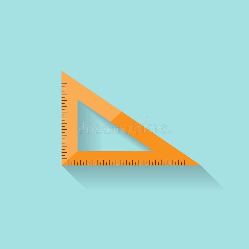 Правитель в плоском стиле маштаб Ширина и длина инструмент измерения также вектор иллюстрации притяжки corel иллюстрация штока