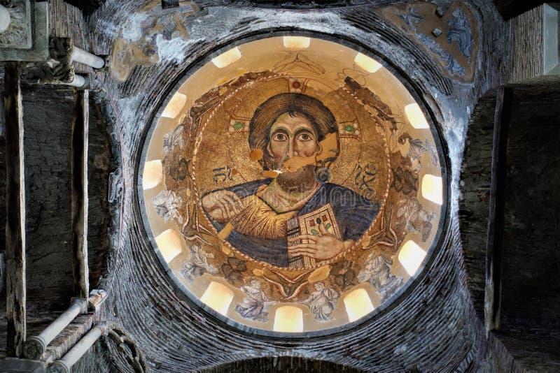 Правоверная византийская фреска в epirus стоковая фотография