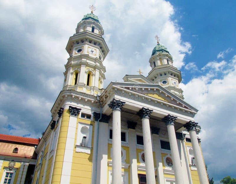 Правоверная христианская церковь в Uzhorod, Украине стоковая фотография