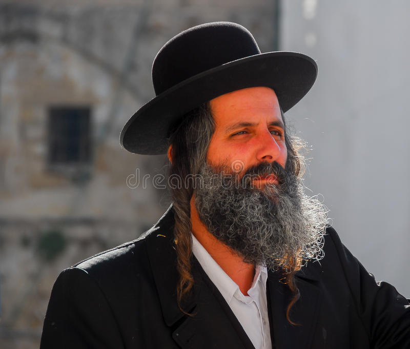 Правоверный еврейский человек, Израиль стоковые фотографии rf