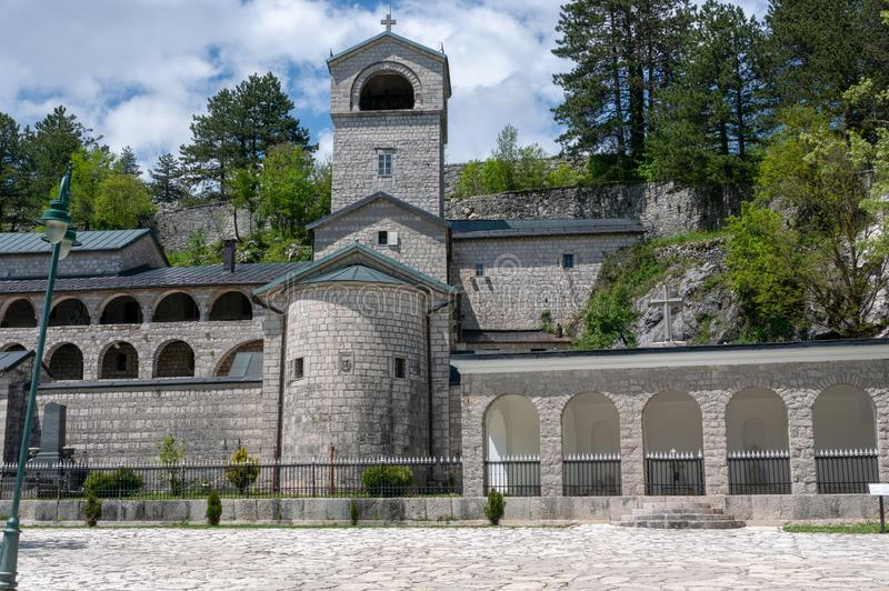 Правоверный монастырь рождества благословленной девой марии в Cetinje, Черногории стоковое изображение rf