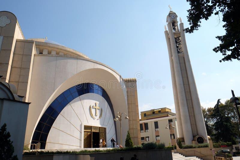 Правоверный собор воскресения Христоса в Тиране стоковая фотография rf