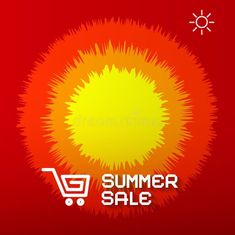 Правовой титул продажи лета иллюстрация вектора