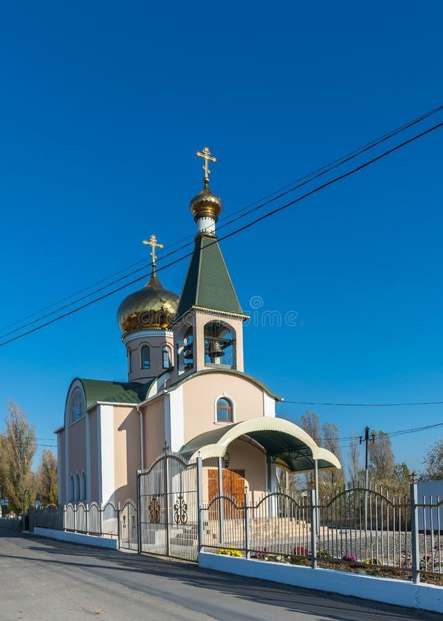 Православная церков церковь в деревне Koblevo, Украине стоковое фото