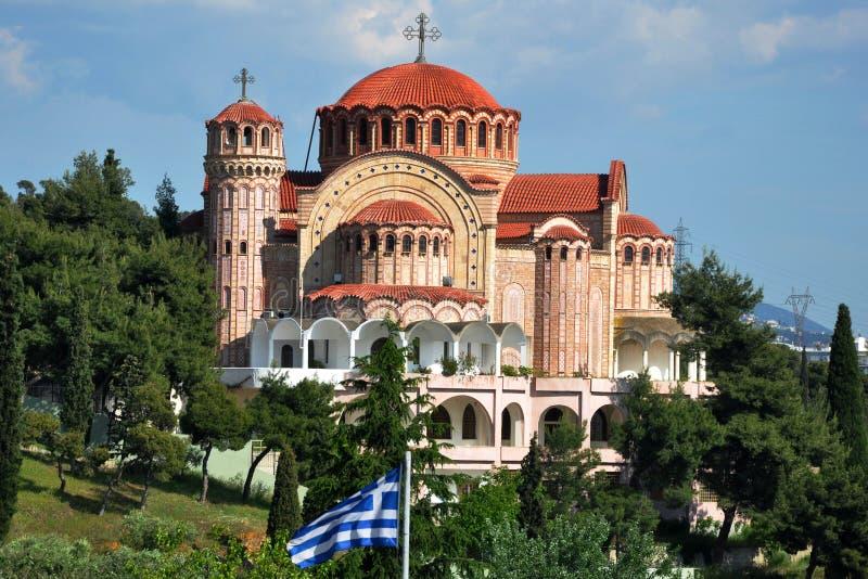 Православная церков церковь в Thessaloniki Греции стоковые фотографии rf