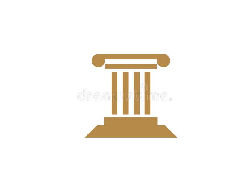 Правосудие здания закона для иллюстрации дизайна логотипа бесплатная иллюстрация