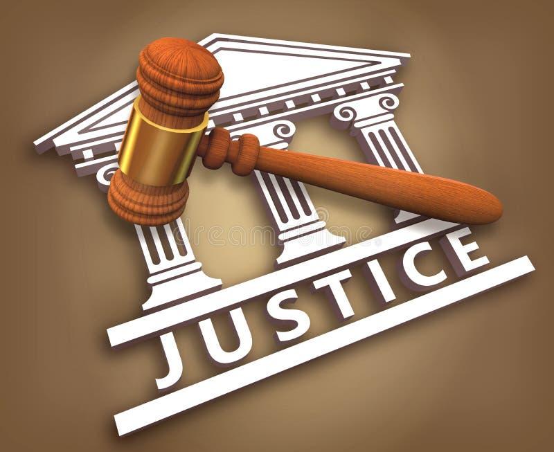 правосудие молотка иллюстрация вектора