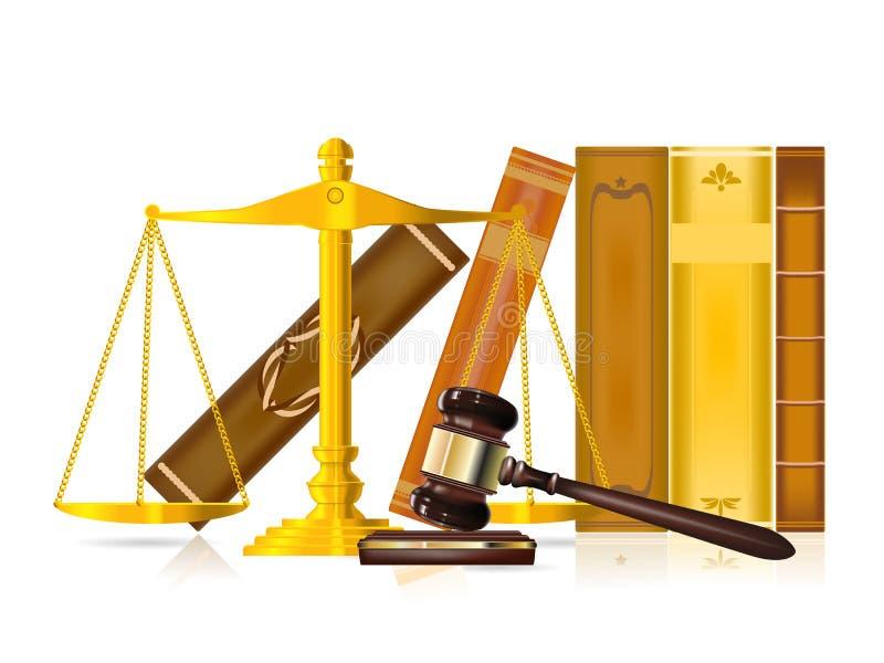 правосудие принципиальной схемы иллюстрация вектора