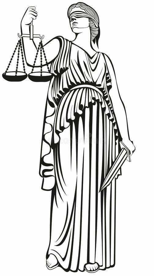 правосудие Греческая богиня Themis равность Справедливый суд Закон бесплатная иллюстрация