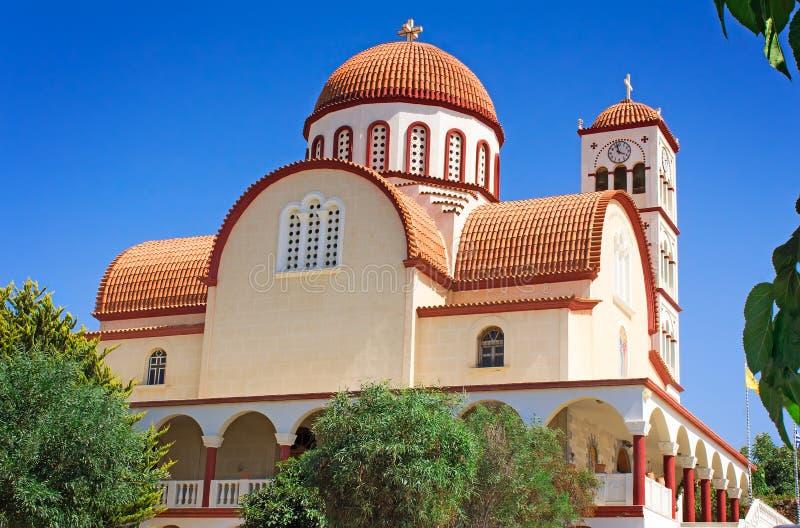 Православная церков церковь в городке Rethymno, Крита, Греции стоковая фотография