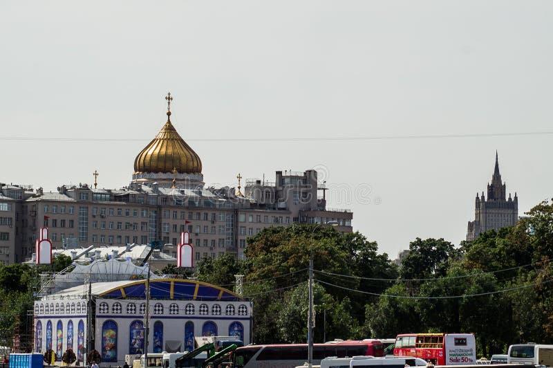 Православная церков церковь в Москве стоковая фотография