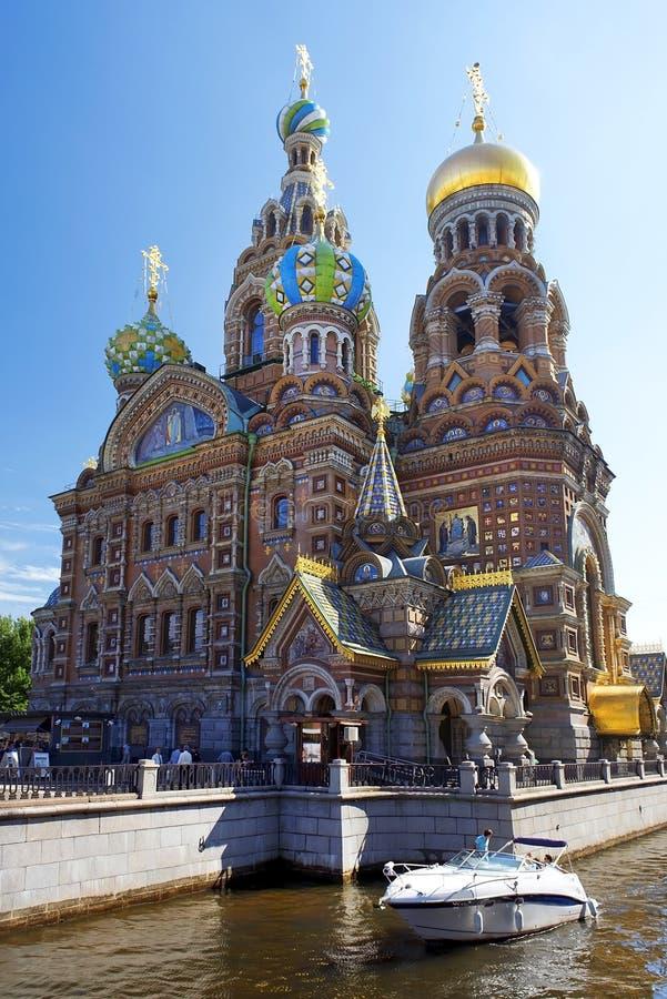 Православная церков церковь спасителя на крови Spilled, Санкт-Петербурга стоковые фотографии rf
