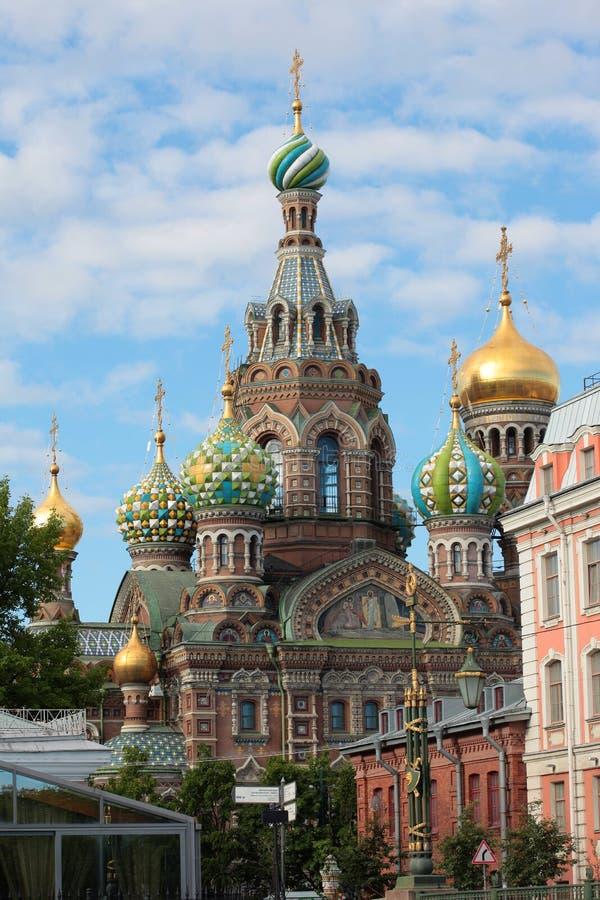 Православная церков церковь спасителя на крови st святой isaac petersburg России s куполка собора стоковое фото