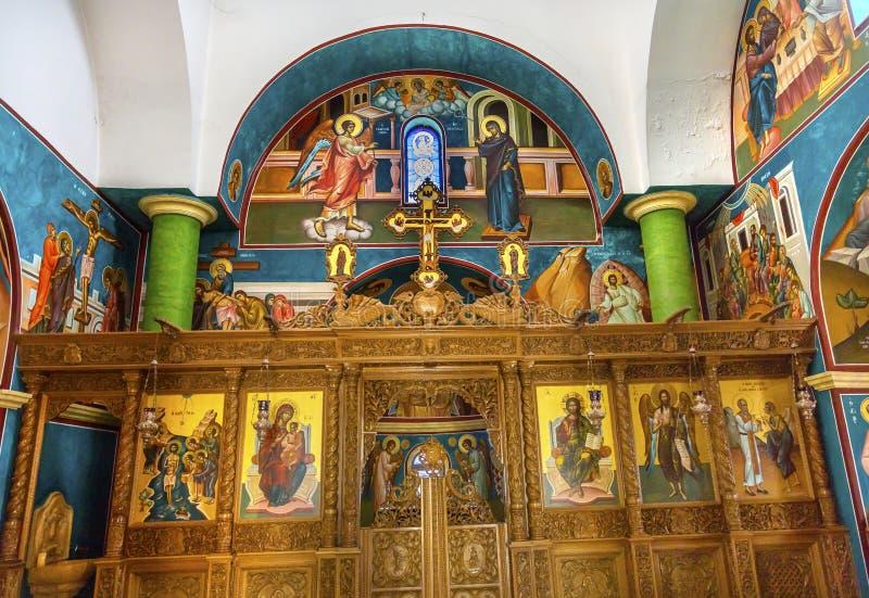 Православная церков церковь Bethany баптиста Джона греческая за Джорданом стоковые изображения