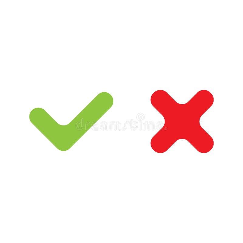 Право вектора и неправильная контрольная пометка бесплатная иллюстрация