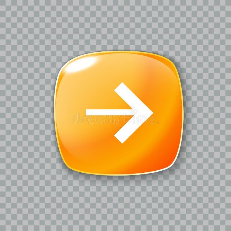 Download право иконы стрелки Лоснистая оранжевая кнопка также вектор иллюстрации притяжки Corel Иллюстрация вектора - иллюстрации насчитывающей minimalism, интернет: 81810874