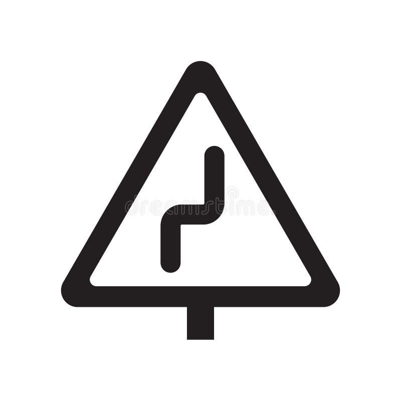 Правый значок знака обратного загиба  иллюстрация вектора