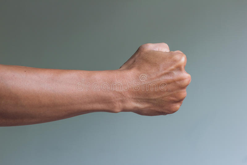 Правый кулак готовый для боя стоковые изображения rf