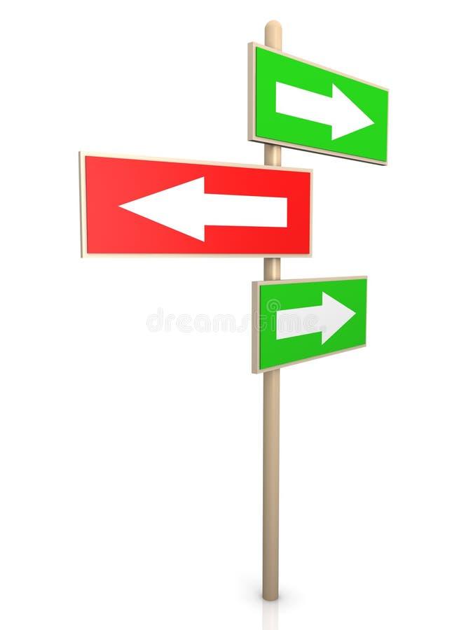 правый путь указателя бесплатная иллюстрация