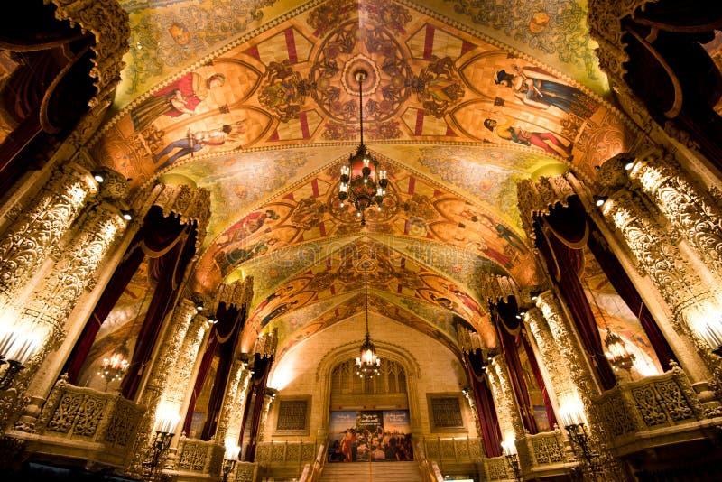 Правящий потолок театра - Брисбен стоковая фотография rf