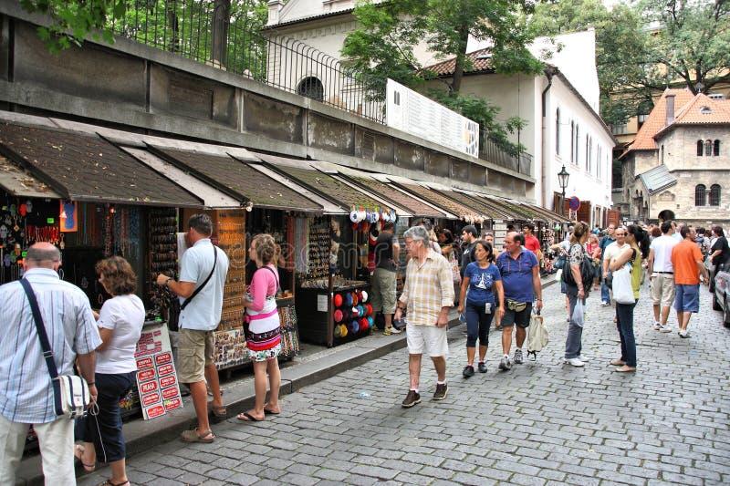 Прага - еврейский квартал стоковое фото