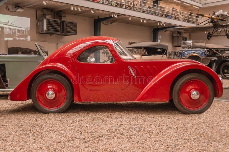 Прага, музей чехии технический, ретро автомобиль 2017-09-12 стоковое изображение