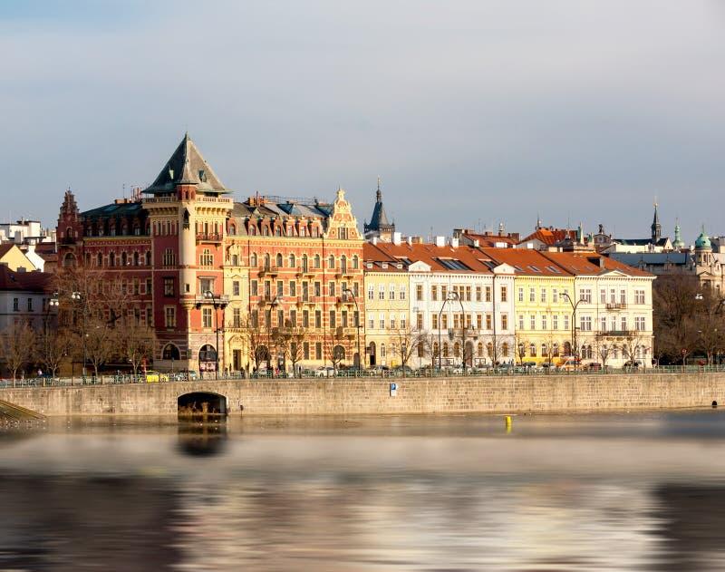 Прага, река Влтавы стоковое фото rf